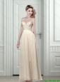 Free and Easy 2015 Prom Dress Empire Sweetheart Champagne with Appliques