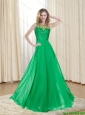 2015 Cheap Bateau Floor Length Prom Dresses with Ruching
