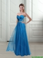 2015 Fashionable Sweetheart Empire Beading Blue Prom Dresses