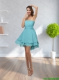 2015 Romantic Strapless Mini Length Prom Dresses with Ruching