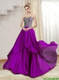 New Arrivals Sweetheart 2015 Appliques Floor Length Prom Dress