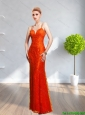 2015 Beautiful  Affordable Spaghetti Straps Long Prom Dress with Lace