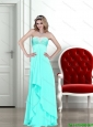 2015 Beautiful  Elegant Strapless Column Prom Dress with Beading
