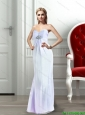 2015 Beautiful Modest Sweetheart Beading Prom Dress in White