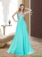 2015 Beautiful  Romantic Sweetheart Floor Length Prom Dresses with Beading