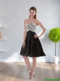 2015 New Arrivals Sweetheart A Line Black Prom Dress with Appliques