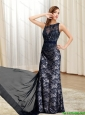 2015 New Arrivals Bateau Floor Length Prom Dresses in Black