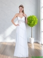2015 Perfect Sweetheart Empire Beading Cheap Bridesmaid Dresses in White