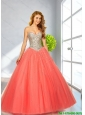 2015 Popular Ball Gown Prom Dresses with Beading