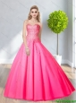 2015 Popular Sweetheart Ball Gown Prom Dresses with Sequins