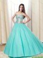 2015 New Arrivals Ball Gown Sweetheart Prom Gown with Beading