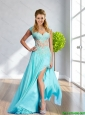 Plus Size Empire Square Appliques 2015 Aqua Blue Prom Dresses