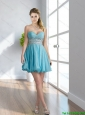 2015 Exclusive Sweetheart Mini Length Cheap Bridesmaid Dress with Beading