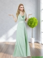Perfect Strapless Belt 2015 Long Prom Dress in Apple Green