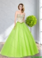 2015 Sophisticated Sweetheart Beading Bridesmaid Dresses in Spring Green