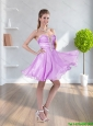 2015 Exclusive Beading Sweetheart Empire Bridesmaid Dress in Lilac