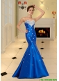 2015 Best Mermaid Strapless Long Prom Dresses with Appliques