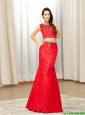 2015 The Best New Style Mermaid Beading Prom Dresses in Red