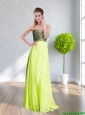 2015 The Best Sweetheart Appliques Prom Dress in Yellow Green
