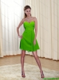 The Most Popular Sweetheart Ruching 2015 Prom Dress in Spring Green