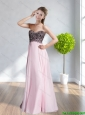 2015 Cheap Sweetheart Appliques Floor Length Prom Dresses in Peach