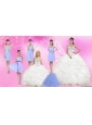 White Sweetheart Quinceanera Dress and Beautiful Short Dama Dresses and 2015 White Little Girl Dress