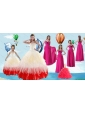 Beading Multi Color Quinceanera Gown and Hot Pink Sweetheart Long Prom Dresses and Halter Top Multi Color Little Girl Dress