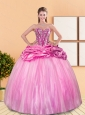 Modest Beading and Pick Ups Sweetheart Quinceanera Dresses for 2015 Spring