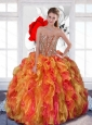 2015 Multi Color Sweet 16 Dress with Beading and Ruffles