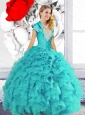 2015 Pretty Sweetheart Quinceanera Dresses with Beading and Ruffles