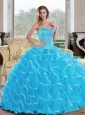 Custom Made Ball Gown Sweetheart Quinceanera Dress with Beading