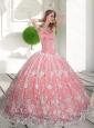 Custom Made Sweetheart 2015 Quinceanera Gown with Beading and Lace