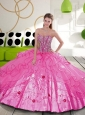 Luxurious Beading and Embroidery Hot Pink Sweet 16 Dresses for 2015