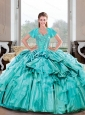 Wonderful Sweetheart Beading and Ruffles Turquoise Sweet 16 Dresses for 2015 Spring