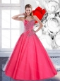 2015  Custom Made Sweetheart Quinceanera Gown with Beading