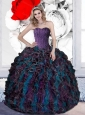 2015 Pretty Beading and Ruffles Sweet 16  Dresses in Multi Color