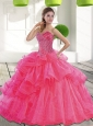 Custom Made Sweetheart 2015 Spring Quinceanera Dress with Beading