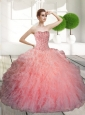Decent Ball Gown Beading and Ruffles Sweet 16 Dresses for 2015
