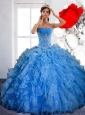 Free and Easy Ball Gown 15 Quinceanera Dress with Ruffles and Appliques