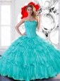 Pretty Sweetheart 2015 Quinceanera Dresses with Beading and Ruffled Layers