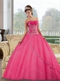 Pretty Sweetheart Floor Length 2015 Quinceanera Gown with Appliques