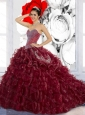 Pretty Sweetheart Ruffles and Appliques Quinceanera Dresses for 2015