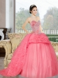 The Pretty Sweetheart 2015 Sweet 16 Dress with Beading and Ruffles