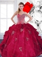 2015 Cute  Sweetheart Ball Gown Quinceanera Dresses with Appliques