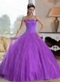 2015 Puffy Sweetheart Ball Gown Quinceanera Dresses with Beading