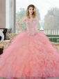 2015 Wonderful Beading and Ruffles Sweetheart Quinceanera Gown