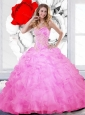 Luxurious Beading and Ruffles Sweetheart Quinceanera Dresses for 2015