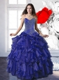 Perfect  2015 Appliques and Ruffles Quinceanera Dresses in Royal Blue