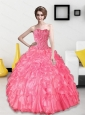Perfect 2015 Beading and Ruffles Sweetheart Quinceanera Dresses