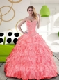 Pretty Sweetheart 2015 Quinceanera Dress with Beading and Ruffles